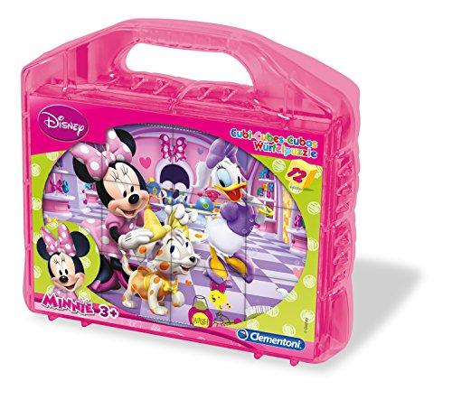 Clementoni- Disney Rompecabezas 12 Cubos plástico (41171.9)