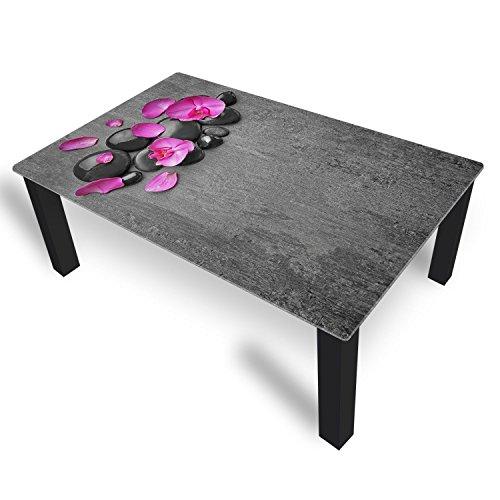 DekoGlas Table Basse en Verre orchidée Violet Hauteur 45 cm Table avec Plateau en Verre 80 x 80 cm 100 x 100 cm 90 x 55 cm 112 x 67 cm 120 x 75 cm