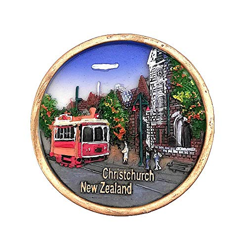 Christchirurgie, Neuseeland, 3D-Kühlschrankmagnet, Reise-Souvenir, Geschenk, Dekoration für Zuhause und Küche, magnetischer Aufkleber Neuseeland, Kühlschrank-Magnet-Kollektion