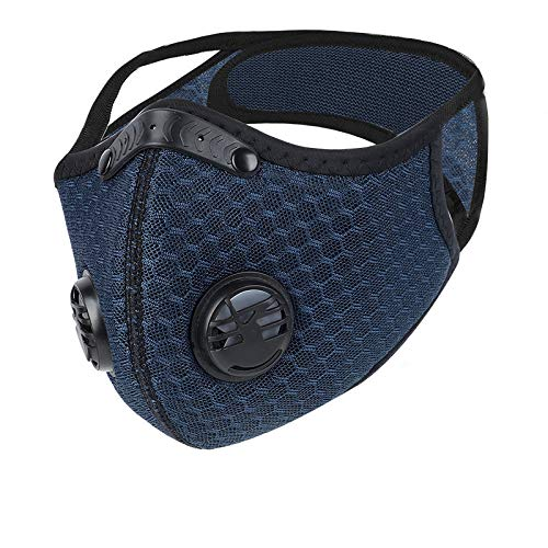 Dustproof Mask,Dust Mask with Filter,Outdoor Sports Face Mask,Filtration Exhaust Gas Anti Pollen Allergy,Half Face Bike Mask