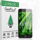 GadFull 2 Piezas HD Protector de Pantalla para iPhone 6 e iPhone 6S | Lámina de Vidrio Templado 3D Suave para Proteger Pantalla Táctil