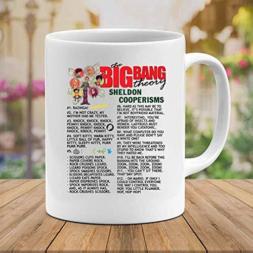 N\A Shedon Cooperisms The Bigbang Theory zitiert Film Film Kino Tasse mit Griff, isolierte Keramik Wiederverwendbare Kaffeetasse, Kaffee Reisebecher