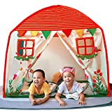 NEDVI Play Tent for Kids Indoor Outdoor Toy Dome Tent for Toddler Kids Playhouse Castle Children Play Tent Boys Girls Kids Gift Tent Portable Kids Playhouse- H55'' x L53'' x W35.4''