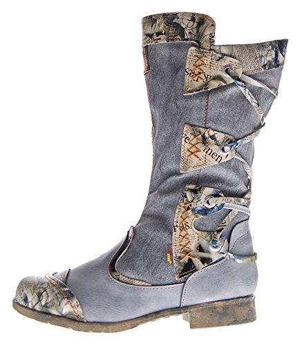 Damen Leder Winter Comfort Stiefel TMA 5516 Schuhe Schwarz Stiefeletten gefüttert Gr. 40