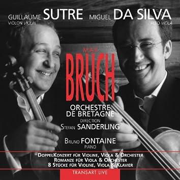Bruch : DoppelKonzert für Violine, Viola & Orchester - Romanze für Viola & Orchester - 8 Stücke für Violine, Viola & Klavier
