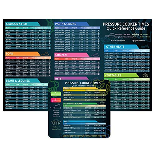 Air Fryer Cooking Time Chart Magnetic Cheat Sheet Magnet Set,Quick Reference Guide Air Fryer Accessories