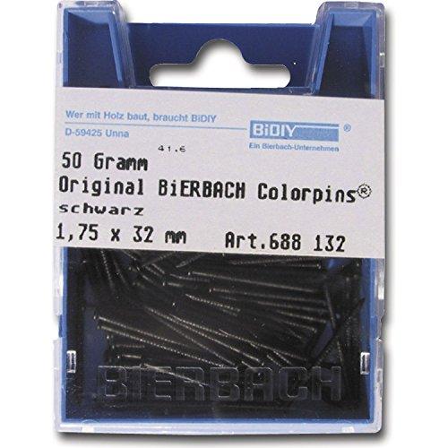 Bierbach 691140 Colorpin HP Hobbypackung, 1.75 x 40 mm / 50 g, weiß