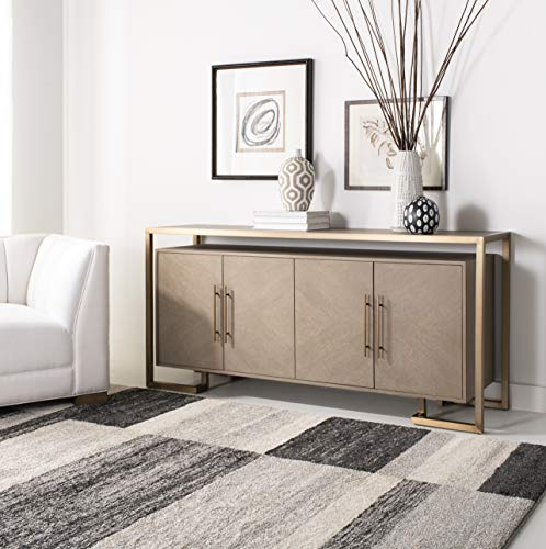 Safavieh Couture Home Claire Modern Weathered Oak and Brass 4-door Buffet
