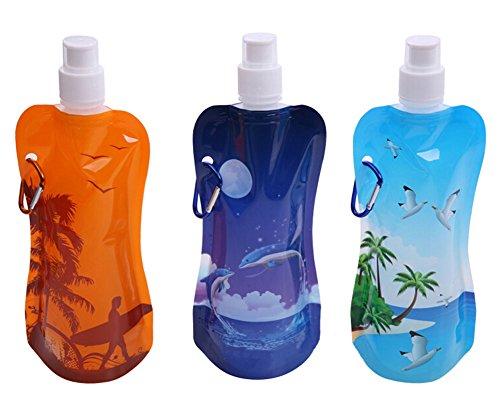 2 pièce plage couleur aléatoire bouteille sport/sac de sport de l'eau, 450 ml
