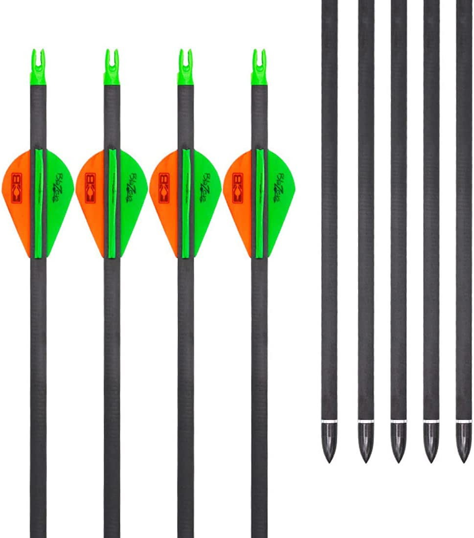low-pricing HBG Los Angeles Mall Archery 12Pack Carbon Arrows Spine Target 300 32