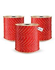 DQ-PP Cuerda de Polipropileno | Rojo | Longitud 30 metros | Grosor 8 milímetros | Rollo de Soga | 100% natural | multiusos | Cuerda de Amarre