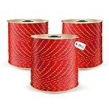 DQ-PP POLYPROPYLENSEIL | 6mm | 10m | ROT Polypropylen Seil | Tauwerk PP Flechtleine Textilseil Reepschnur Leine Schnur Festmacher Rope Kordel Kunststoffseil Kletterseil geflochten