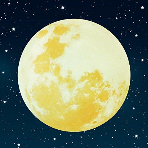 Paraboo Leucht Mond selbstklebend 30cm gelb für deinen Sternenhimmel oder auch als Wandsticker fluoreszierend