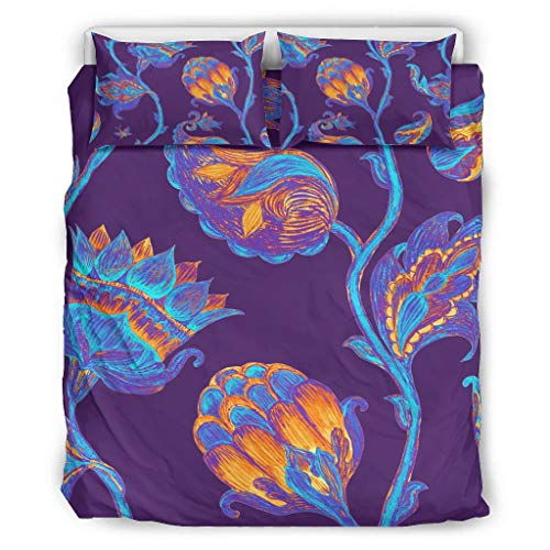 Haythan Juego de ropa de cama de 3 piezas tradicional – 3 piezas Queen ropa de cama blanco 229 x 229 cm