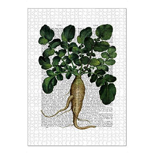 artboxONE Ravensburger-Puzzle XL (1000 Teile) Floral Pastinake - Puzzle Gemüse Pflanze Pflanze