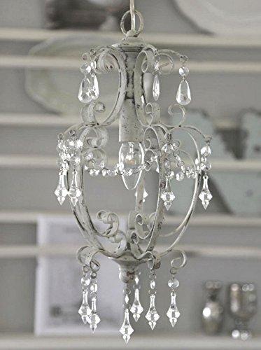 Chic Antique Lámpara de araña de Metal Blanco H44 cm Ø22 cm 70678-01