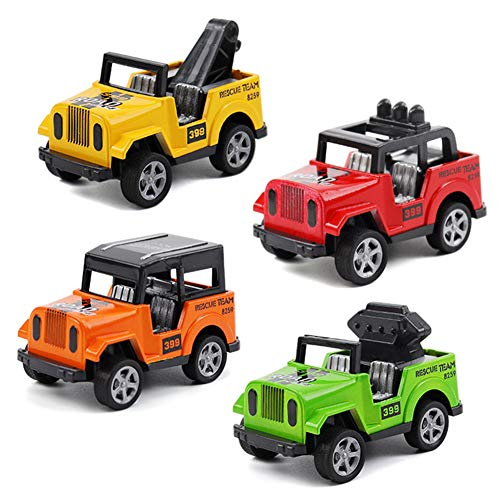 VANTIYAUS Car Toy (4 Packs) Pullback Car Wrangler Vehicles Toys Gifts ,Toy Car for Toddler,Mini Car Toy Gift for Kids (Color Random)