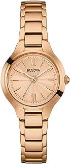 Bulova Women's Quartz Watch Metal Bracelet analog Display and Stainless Steel Strap, 97L151