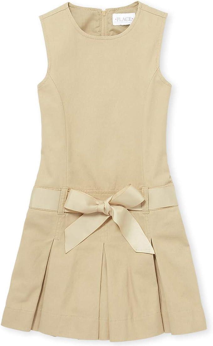 The Children's Place Girls' Uniform Belted Jumper
