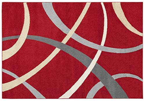 ABC Tappeto Terra Rosso/Beige 133 x 190 cm