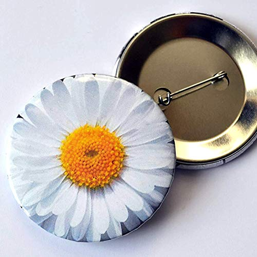 Button Anstecknadel Gänseblümchen