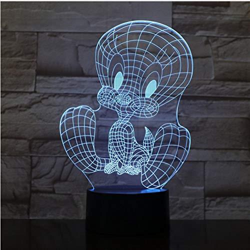 Led-nachtlampje, usb-touch-sensor, RGB-decoratie, kindergeschenk, cartoon action figuur weety vogel, tafellamp, slaapkamer