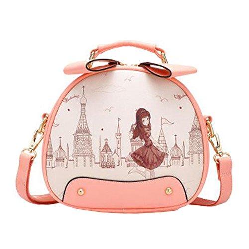 Élégant unique épaule sac à bandoulière, mode bourse, mignons dames belle ronde imprime sac à bandoulière