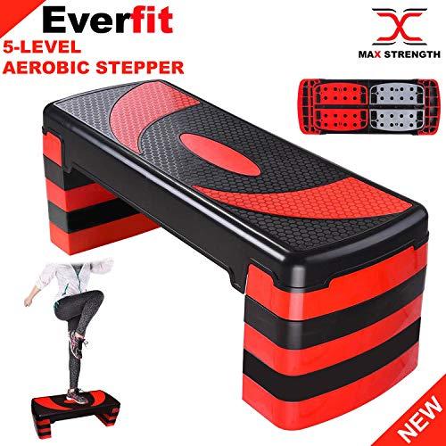 Max Strength Aerobic Stepper Cardio Fitness Step Board - 5 Stufen Home-Gym Übungsblock