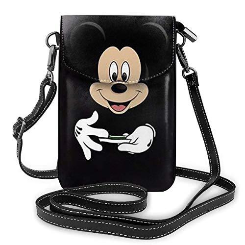 AOOEDM Micky y Minnie Kiss, bolso para teléfono móvil, bolso de hombro, mochila de viaje, regalo de fiesta para mujeres y niñas