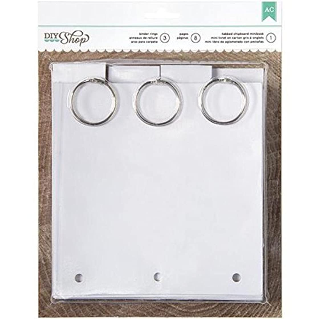 American Crafts 6 by 6-Inch 8 Pages Tabbed DIY Shop Chipboard Book, Mini