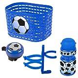 Ventura Unisex Bebé Soccer Accesorios Accesorios para Bicicleta Infantil Cesta Campana Botella Botella Azul