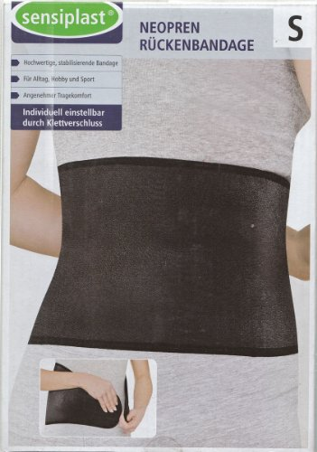 Neopren Rückenbandage stabilisierende Bandage 70-90cm Größe S