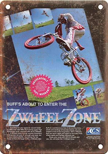 "ACS BMX Zwheel Zone Mike Buff Ad 12"" x 9"" Reproduction Metal Sign B512"