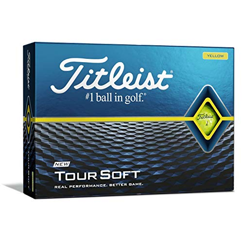 Titleist 2020 Tour Soft YLW Bola de Golf, Hombres, Yellow, Talla Única