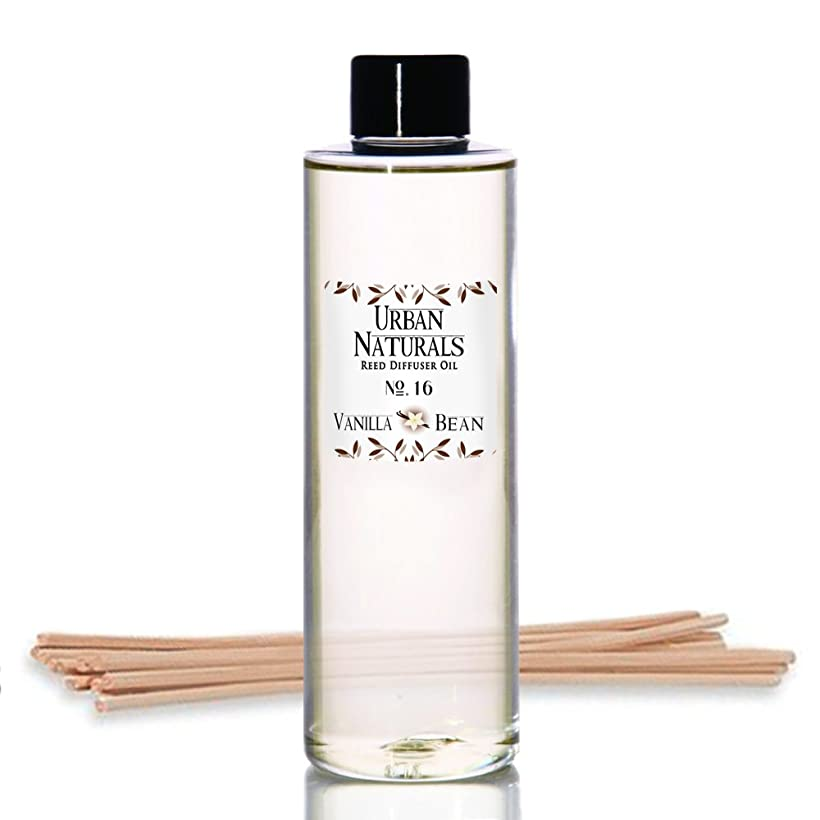 マナーハチ薬剤師Urban Naturals Vanilla Bean Scented Oil Reed Diffuser Refill | Includes aフリーのセットReed Sticks 。バニラクリーム、アンバー& Sweet Tonka Bean、4オンス