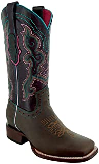 Women's Embroidered Ana Square Cowgirl Toe Boots M9002