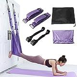 Amarine Made Ajustable Yoga Strap for Stretching Back Yoga Belt Strap for Fitness Bend Split Inversion Strap Waist Back Leg Assist Trainer for Fitness, Dance, Ballet, Gymnastics (Purple)