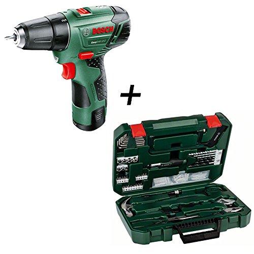 Bosch doméstica unidades & Jardín – Taladro atornillador (Easy Drill 12 – Juego de 2, 111 piezas): Amazon.es: Bricolaje y herramientas