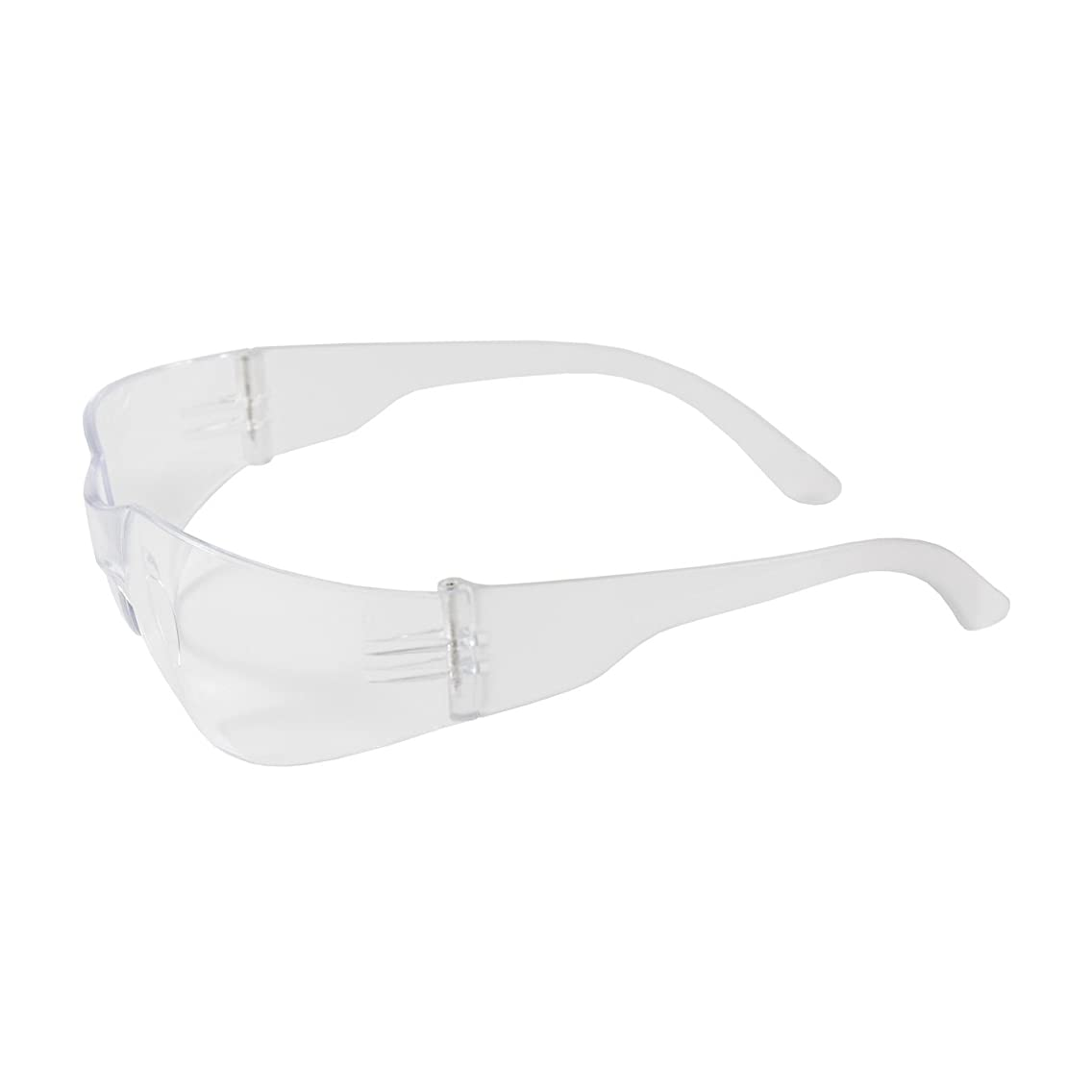 Zenon Z12 250-01-0900 Rimless Safety Glasses with Clear Temple, Clear Lens and Anti-Scratch Coating