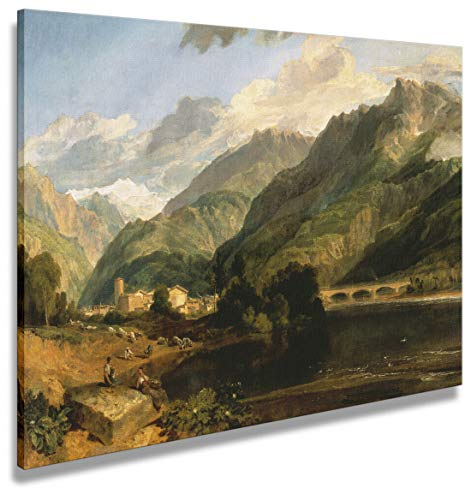 digitalpix Artenòr Bild Turner William Bonneville Savoy with Mount Blanc 1803 Kunstdruck auf Leinwand, 90 x 66 cm