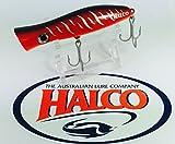 Superior Topwater Pesca por Halco 'Roosta popper 105' 30g, color R18Rojo Tigre