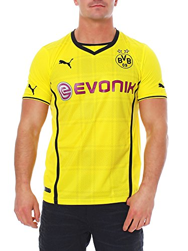 Puma Herren Trikot BVB Home Replica, Blazing Yellow/Black, XL, 743555 01