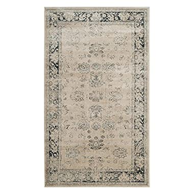 Safavieh Vintage Premium Collection VTG117-7440 Transitional Oriental Stone and Blue Distressed Silky Viscose Runner (2'2 x 8')