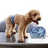 L-Peach Pañal Sanitario para Perros Envoltura para Machos Incontinencia Urinaria Banda Enfermería Lavable y Transpirable Denim Azul L