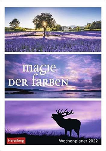 Magie der Farben Wochenplaner 2022 - Wandkalender mit Wochenkalendarium und viel Platz für Termine und Notizen - 53 Blatt - 25 x 35,5 cm
