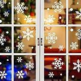 Yuson Girl 192/108 PCS Lote Copos de Nieve Pegatinas Navidad Ventana Reutilizable Decoracion Navidad Exterior Interior Murales Decorativos Adornos de Pared Puerta para Fiesta Tienda Casa