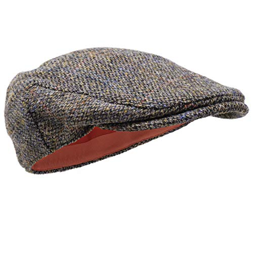 Borges & Scott Coppola Nevis - 100% Lana Tessuta a Mano - Tweed Harris - Resistente all'Acqua - Pernice 56cm