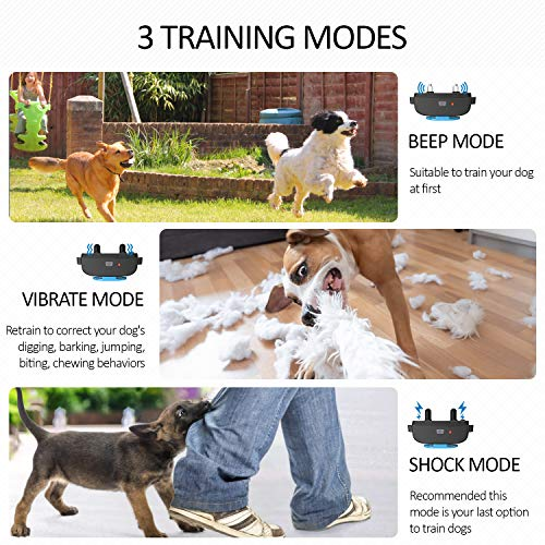 iDOO Dog Training Collar for Large Breed, Dog Shock Collar with Remote for Small Puppy Medium Dogs,...