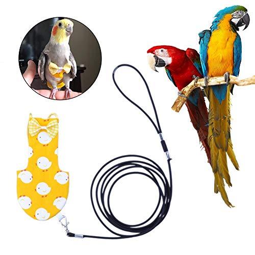 Hualieli Arnés para Loros Cuerda De Tracción De Pañales para Pájaros Correa Ajustable para Aves Voladoras Cuerda para Loros Y Otras Aves Ropa para Volar Aves Y Pájaros Correa para Cuerdas Arnés