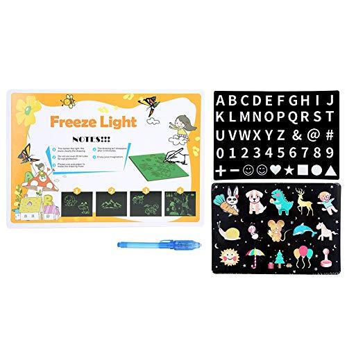 Zeichenbrett, Yevenr A4 PVC-Malbrett Fluoreszierendes Zeichenbrett für Kinderspielzeug Kinder Geschenk 11,6 x 8,3 Zoll